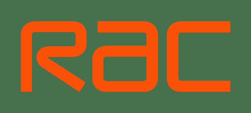 RAC logo 2019 on a white background