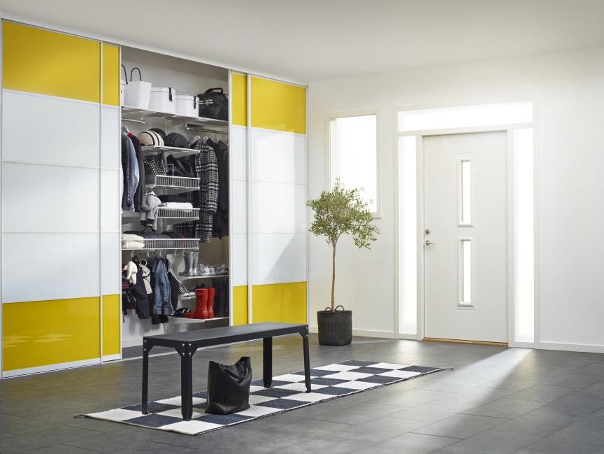 Elfa, Vista skydedøre og Classic indretning i gangen