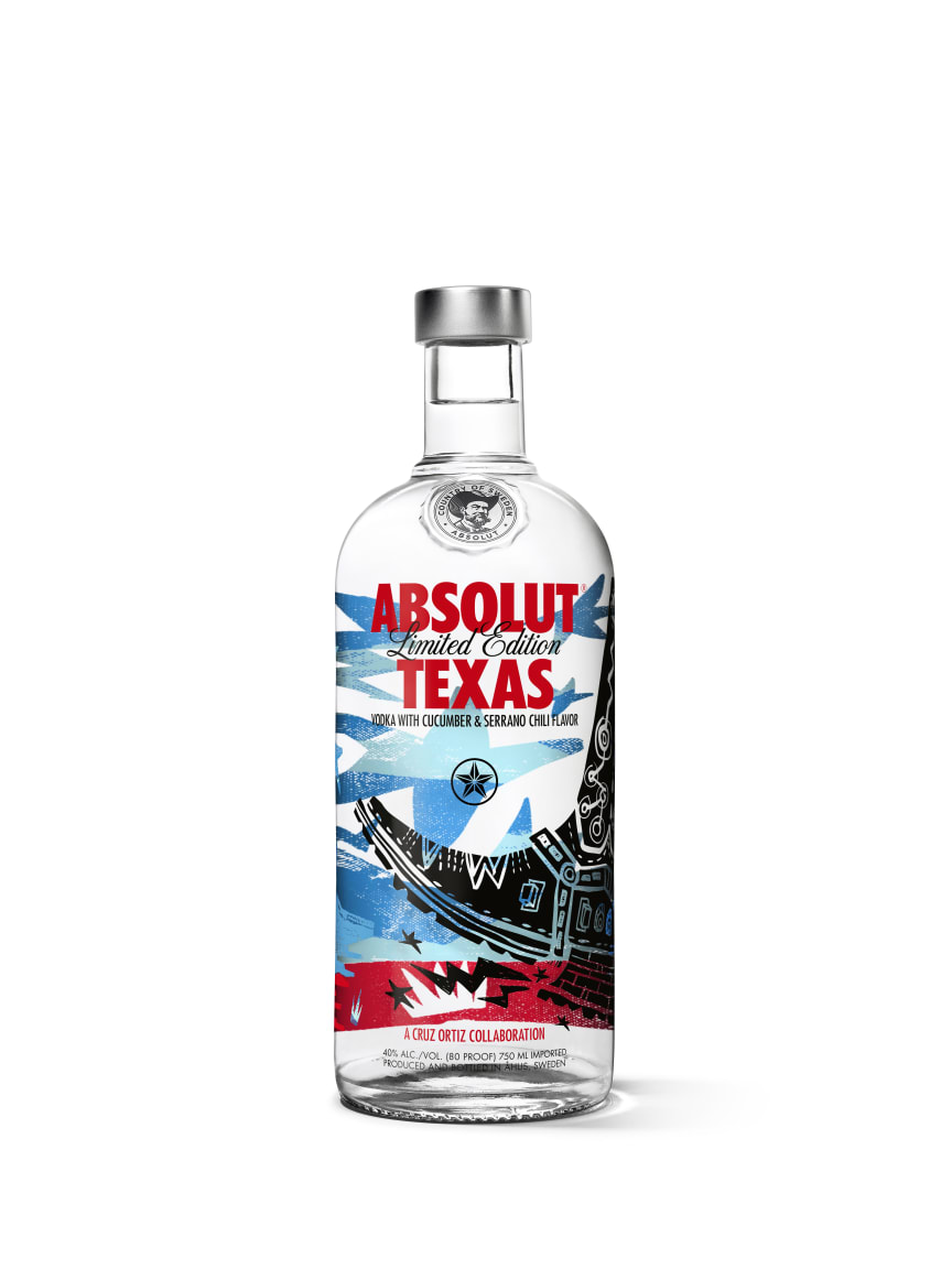Absolut Vodka Limited Edition Texas