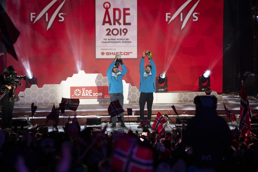 Åre VM_190209_medaljer Norge