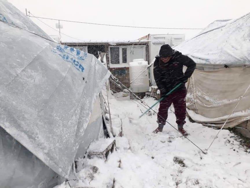 Flyktingläger Bardarash i norra Irak