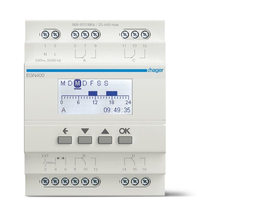EGN400_Digitale Multifunktions-Zeitschaltuhr mit Bluetooth-Konfiguration, 4-Kanal