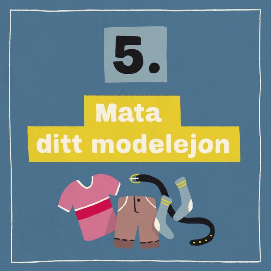 Tips 5: Mata ditt modelejon!