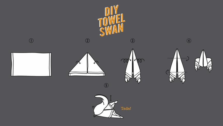 Comfort Hotel DIY Towel Swan Guide