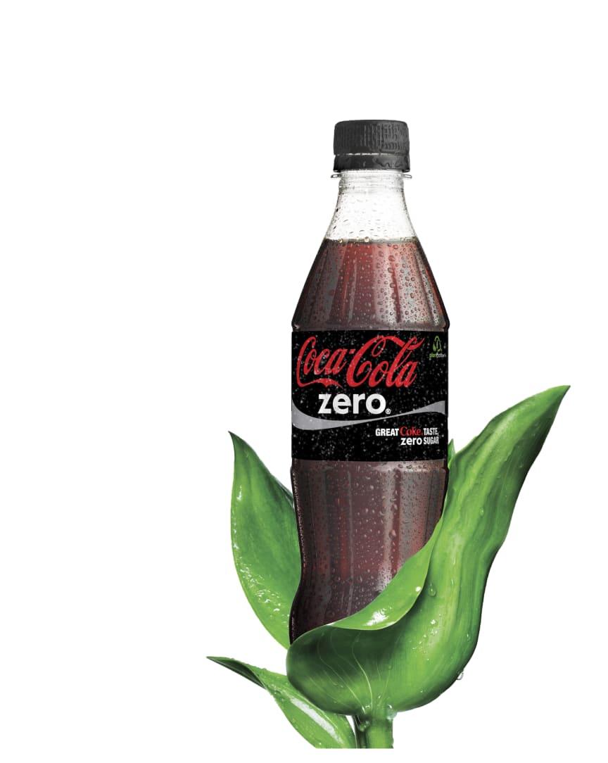 Coca-Cola zero PlantBottle -pullossa