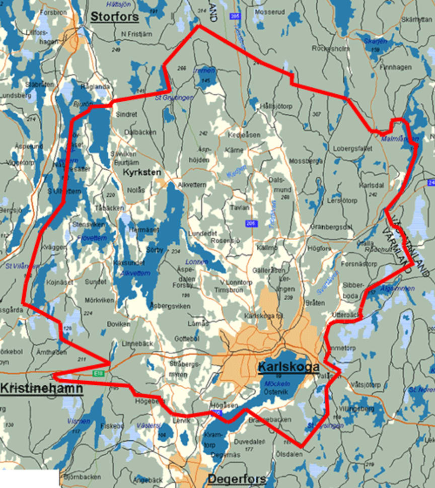 Karlskoga Elnäts koncessionsområde