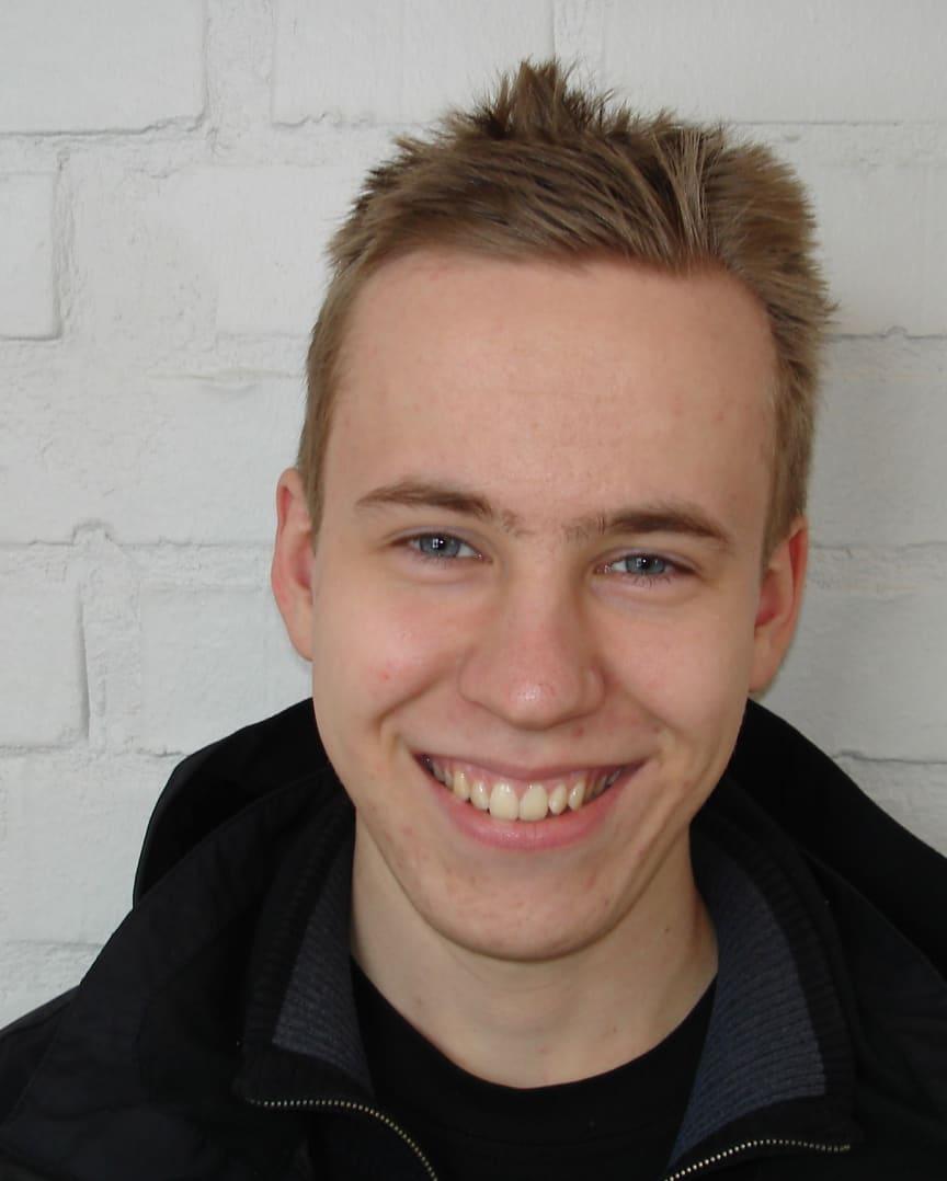 """Sebastian Wahlberg, Uppsala, finalist i """"SM för unga plåtslagare 2013""""."""