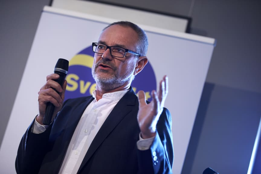Sören Persson, LRF,  på Svenskt Kötts pressträff om svensk gris