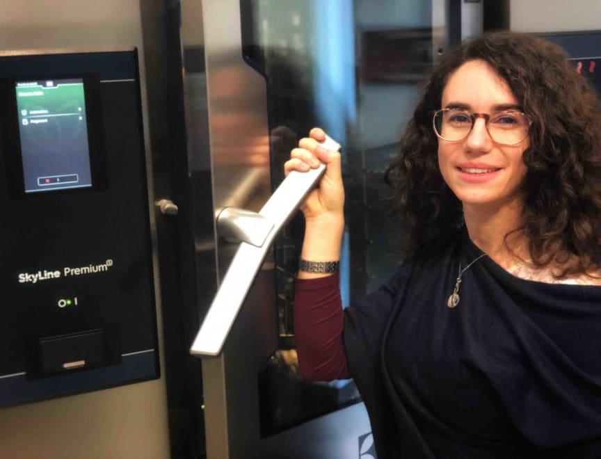 Eleonora Pippia, en av matematikerna som var med och skapade Plan-n-Save-funktionen i SkyLine.