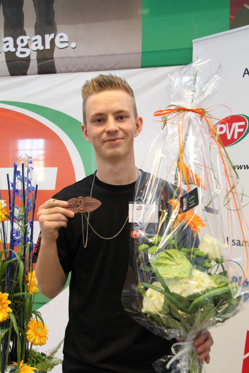 Jonas Westin från Hassela/Hudiksvall  - Bronsmedaljör i SM för unga plåtslagare 2013