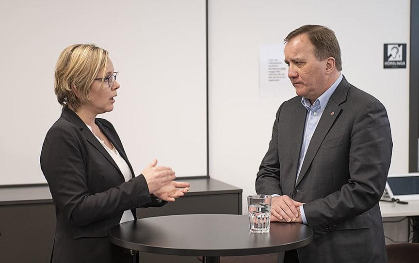Britta Ramberg och Stefan Löfven