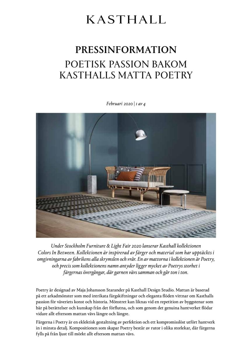 POETISK PASSION BAKOM KASTHALLS MATTA POETRY