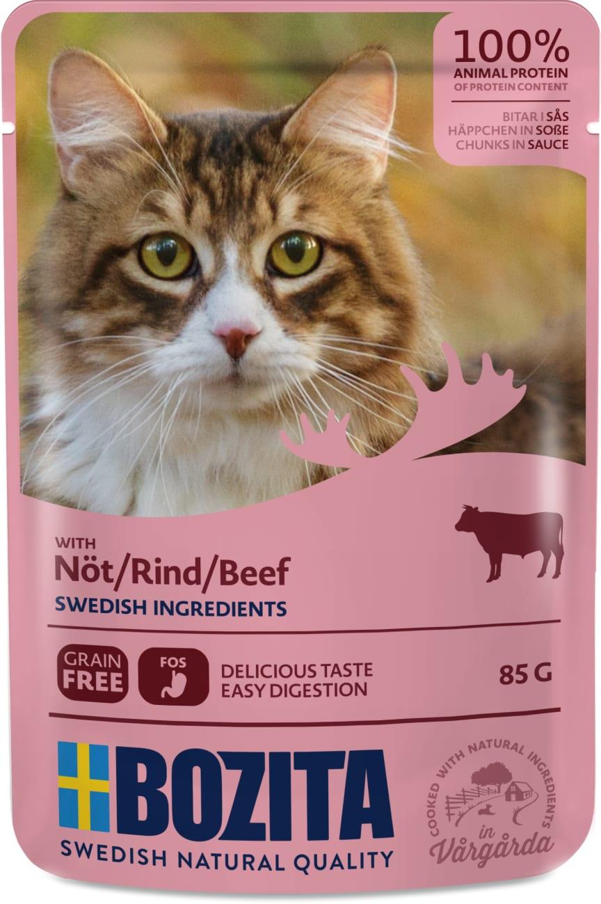 Bozita bitar i sås med nötkött