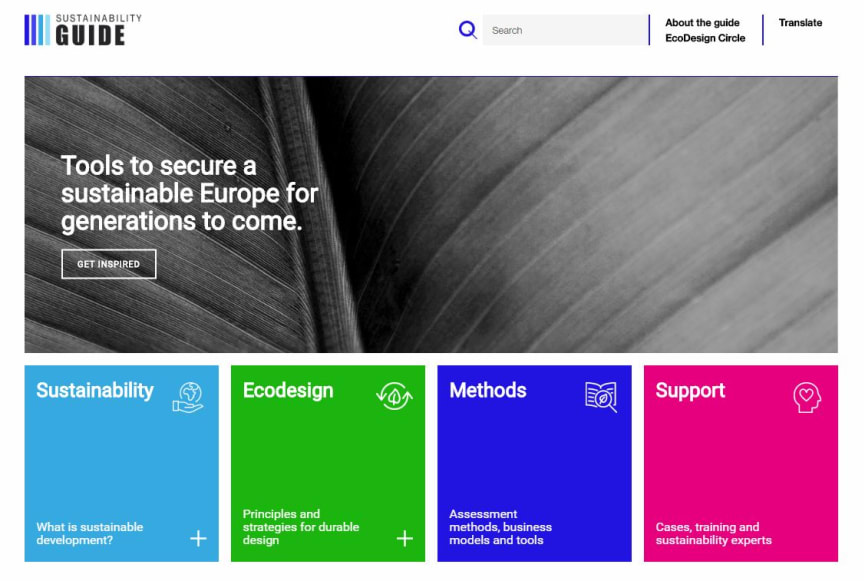 Start page Sustainability Guide