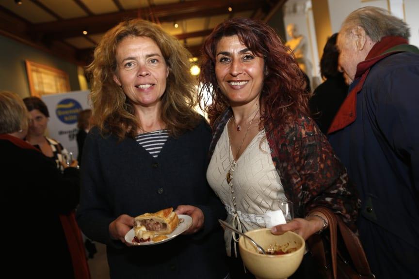 Anna Sjögren och Maria Masoomi på Svenskt Kötts pressträff om svensk gris