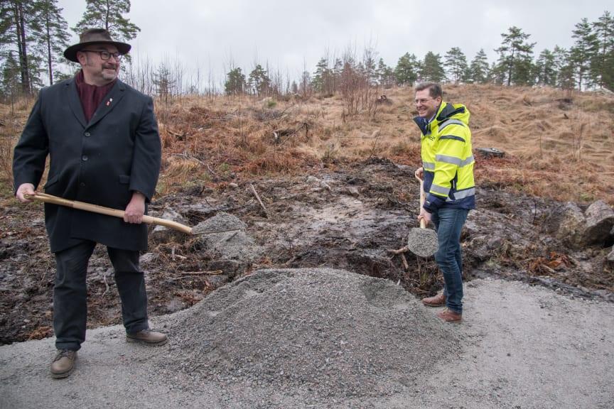 Första spadtaget för Lyra, Örebro kommuns nya vattenreservoar!