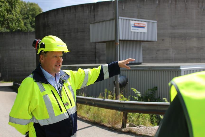 Administrerende direktør Kjell Arve Kure ved Norske Skog Saugbrugs