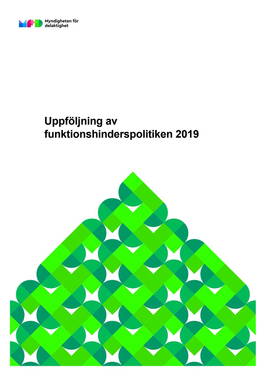 Uppföljning av funktionshinderspolitiken 2019
