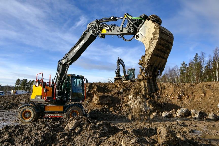 Volvo EW160E med Dig Assist