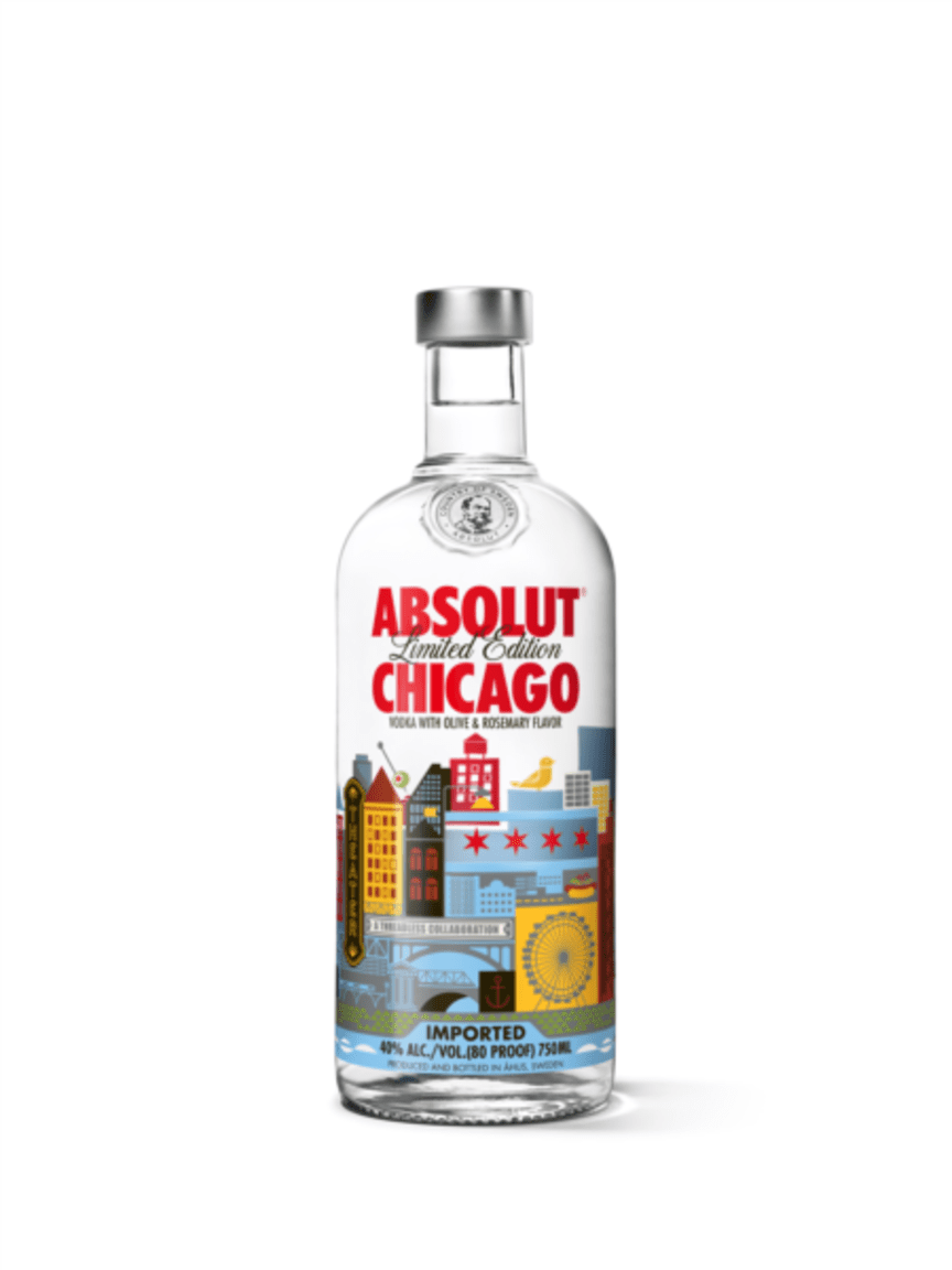 Absolut Vodka Limited Edition Chicago