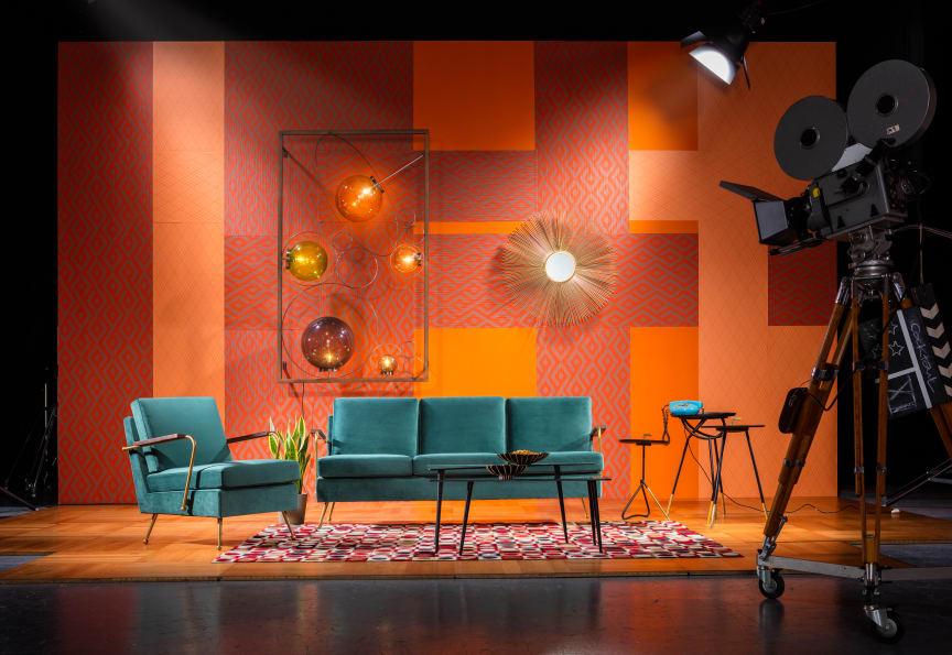 Sofa Gamble Green 3-Seater