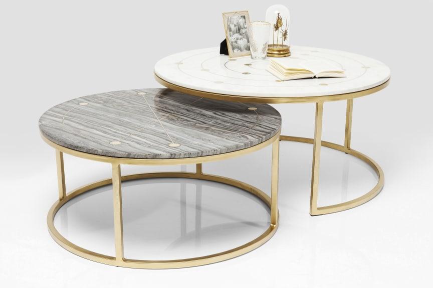 Side Table Mystic Round (2 Set) Ø90cm