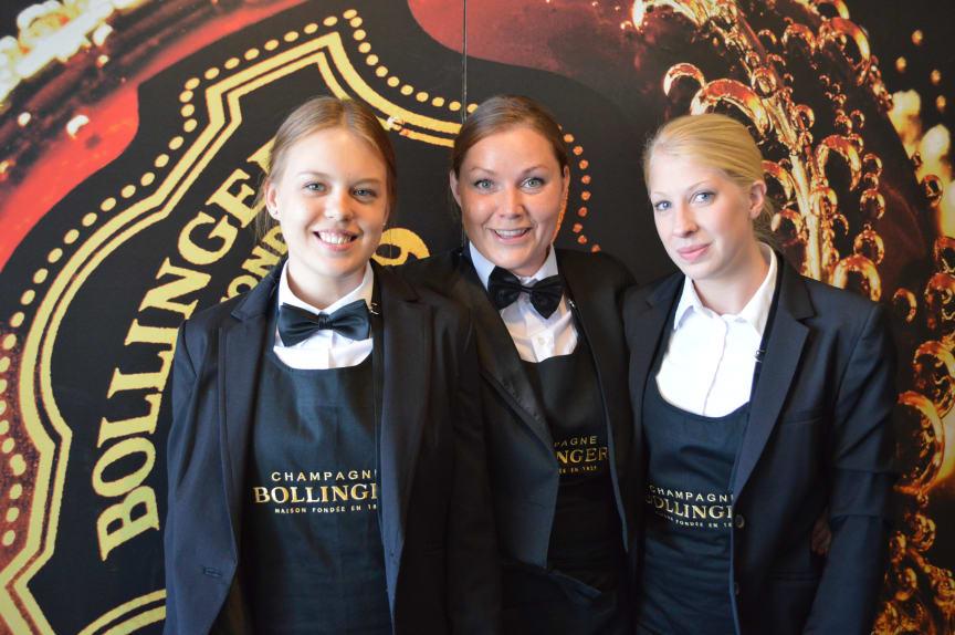 Finalisterna i The Lily Bollinger Award 2013 Ulrika Ferlin, Tina Trigg och Louise Bergdahl