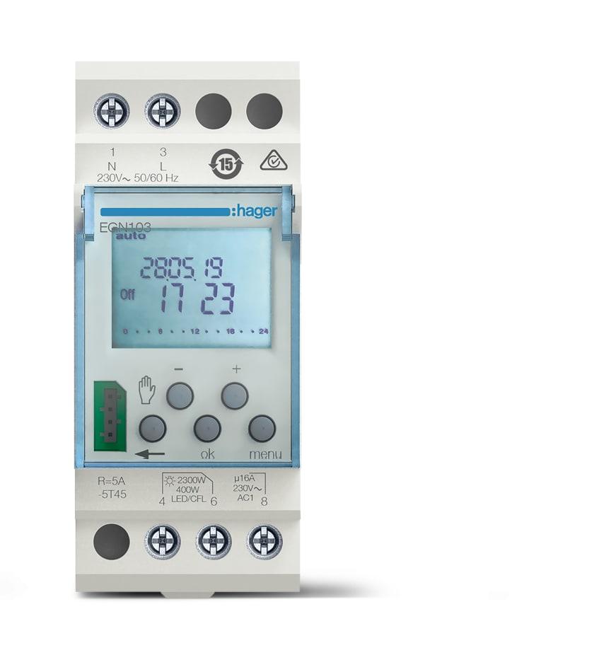 EGN103_Digitale Wochenschaltuhr mit Bluetooth-Funktion über Programmierschlüssel, 1-Kanal