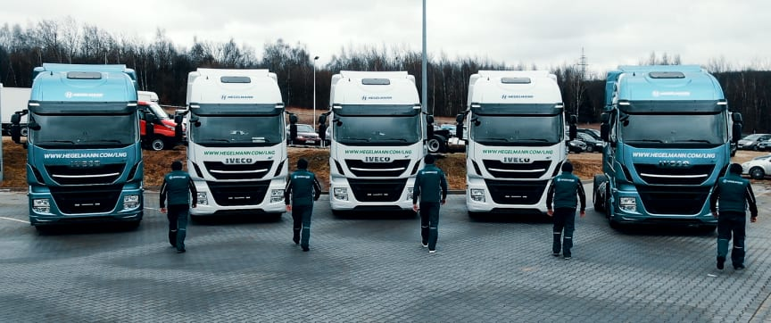 Hegelmann Group has acquired five LNG-powered trucks from IVECO