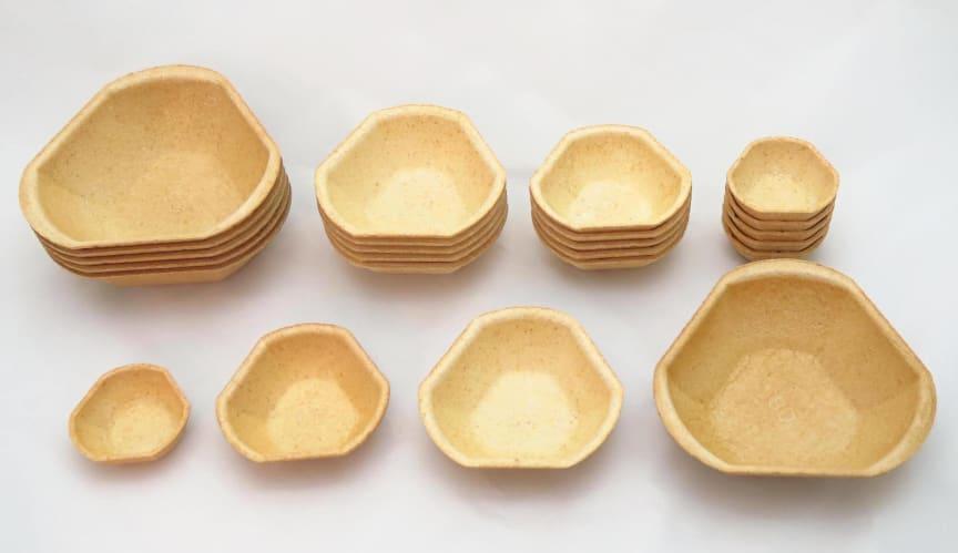 Füllett, die essbaren Schalen als Alterative zu Brotschalen, Waffelschalen , Tartelettes & Co.