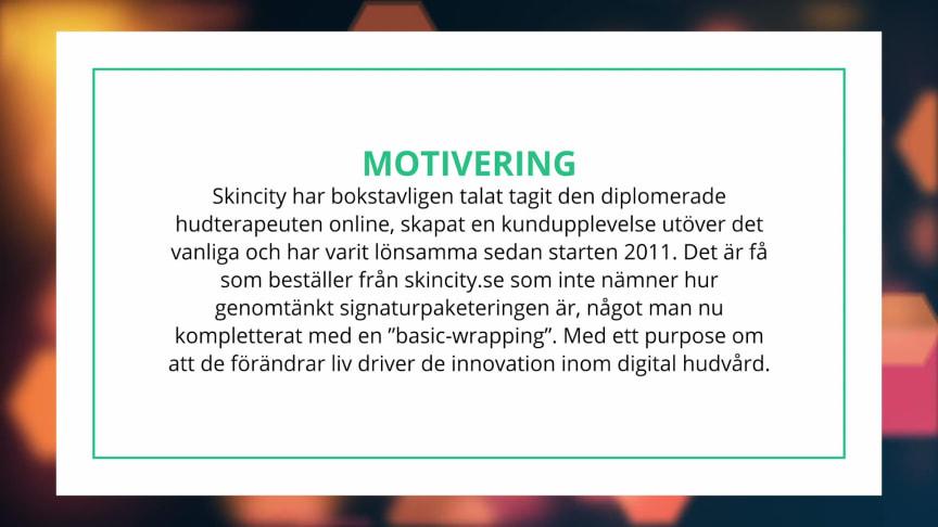 Skincity motivering D-Award 2020