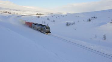 Bruk av tog sparer miljøet