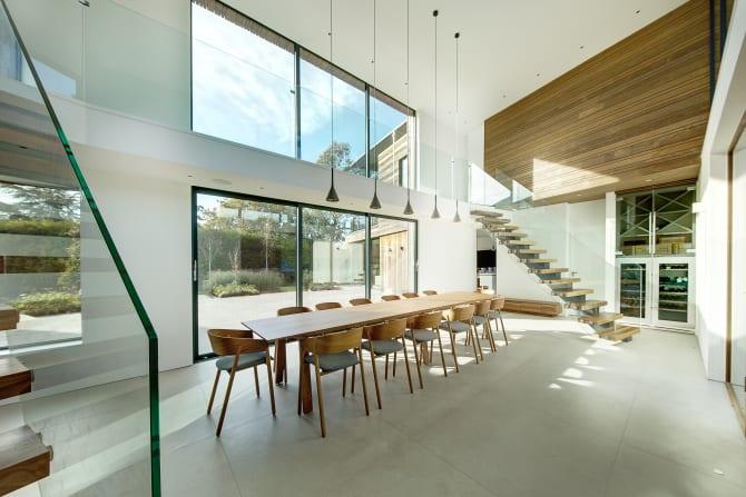 Fassade Architektur familienhaus mit kebony fassade und außergewöhnlicher architektur