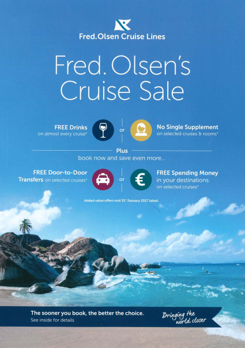 Fred. Olsen Cruise Lines launches its New Year Cruise Sale campaign