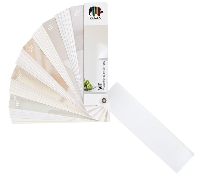 En ny stark färgkarta, helt i vitt! - Caparol Färg : väggfärg vit : Inredning