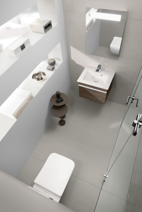 specific products in the popular bathroom collections from villeroy boch provide solutions for small