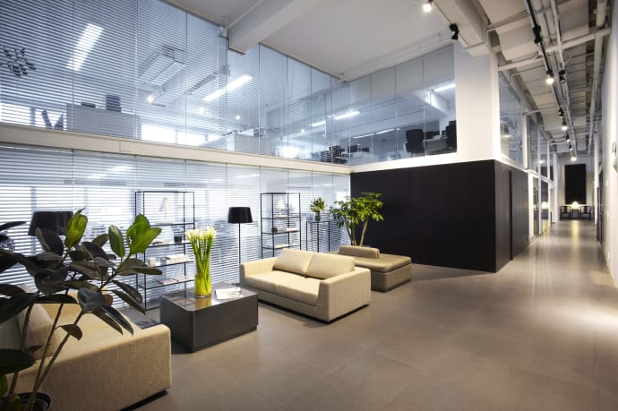 Large Spaces And Lighting Is Key For Creating A Luxury Office Atmosphere.