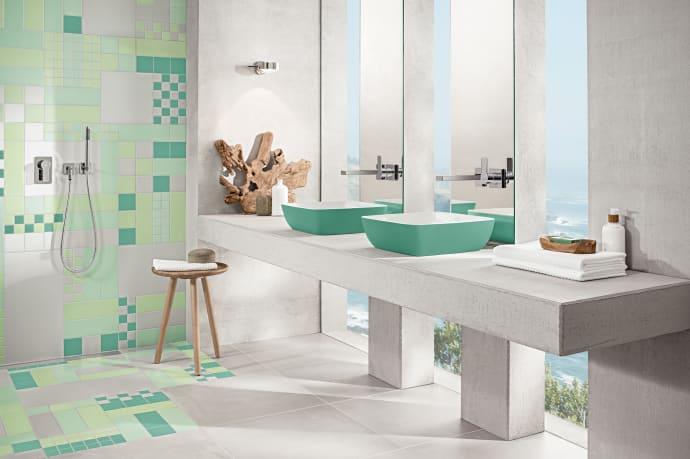 Farbige Keramik in Bad und Küche – Die Farbentwicklung bei ...