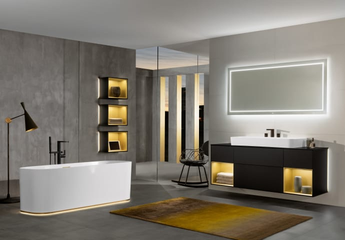 Finion, The New Premium Bathroom Collection From Villeroy U0026 Boch, Creates A  Luxurious Bathroom Setting With Its Exclusive ...