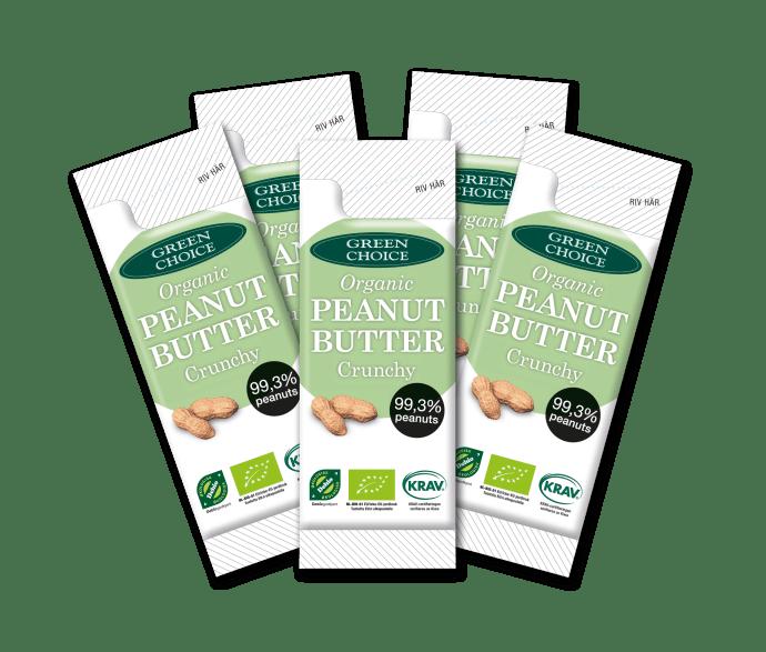 green choice jordnötssmör crunchy