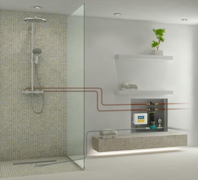 Überall bodengleich Duschen im Bestand mit der SANFTLÄUFER-Pumpe ...