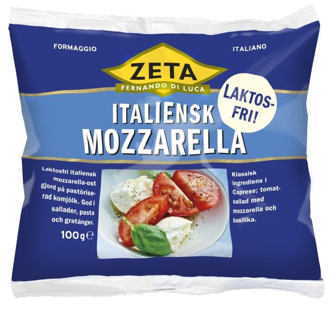 Innehåller mozzarella laktos