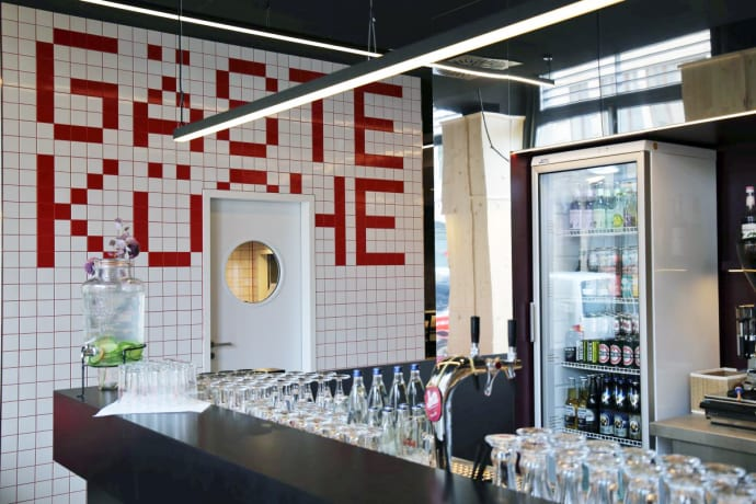 Die öffentliche Gästeküche inklusive Kühlschrank - Leipzig Tourismus ...