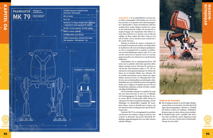 Página sobre el robot MK 79 en la edición sueca de Tales from the Loop