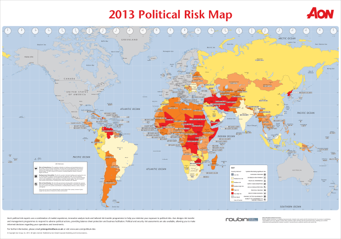Aons Interactive Political Risk Map Draws On Fifteen Years - Sweden map interactive