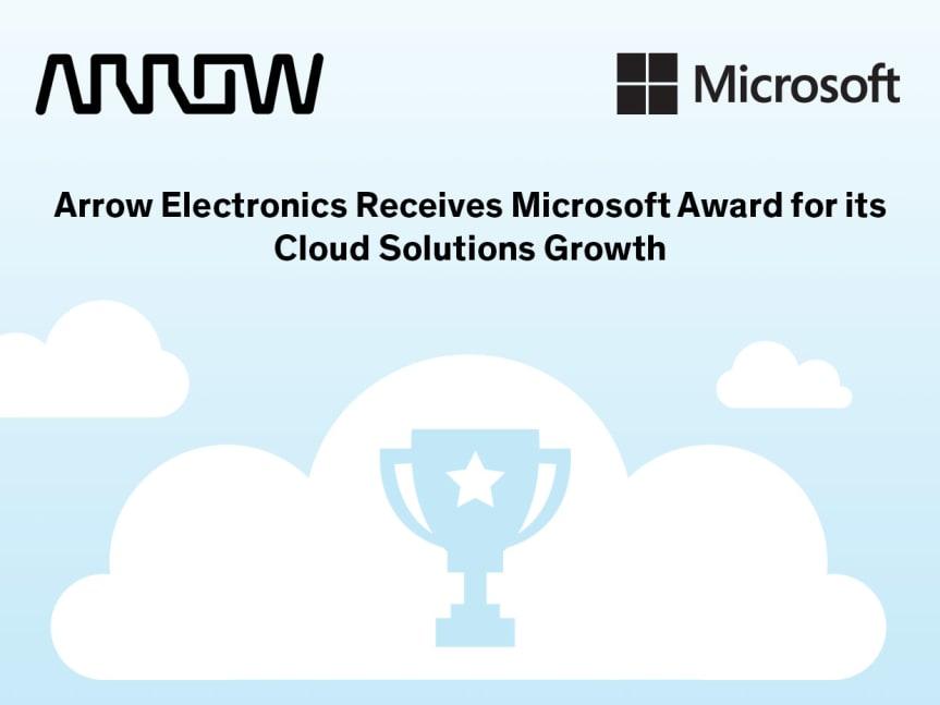 Arrow Electronics tar emot pris för Microsoft Cloud Solutions Growth 2