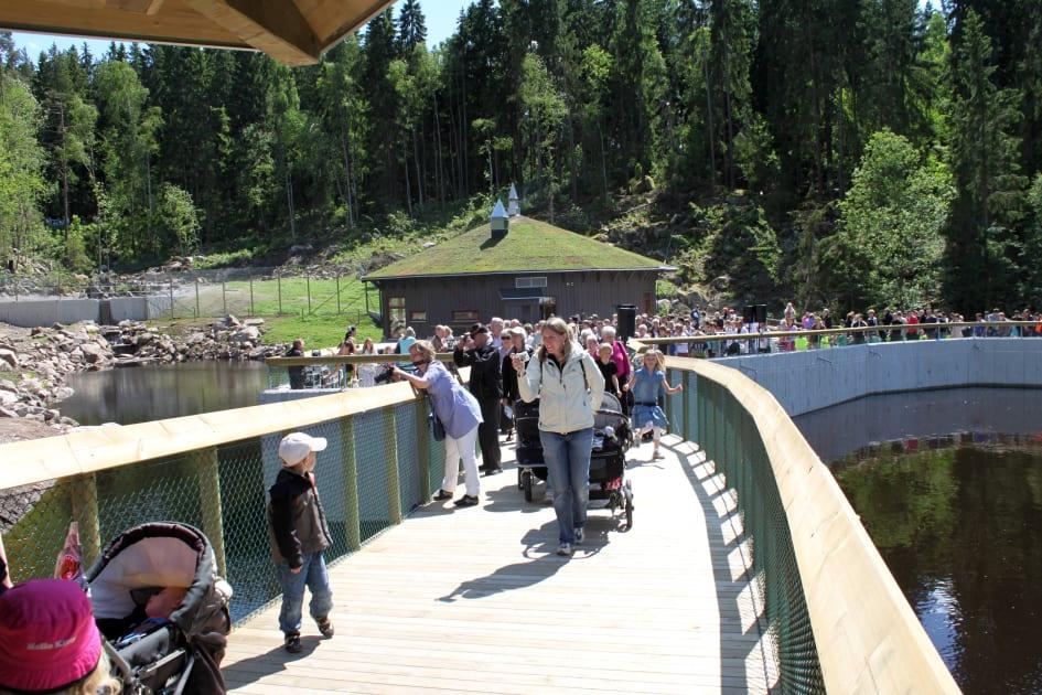 Karta Boras Djurpark.Invigningen Av Den Nya Bjornanlaggningen I Boras Djurpark Boras