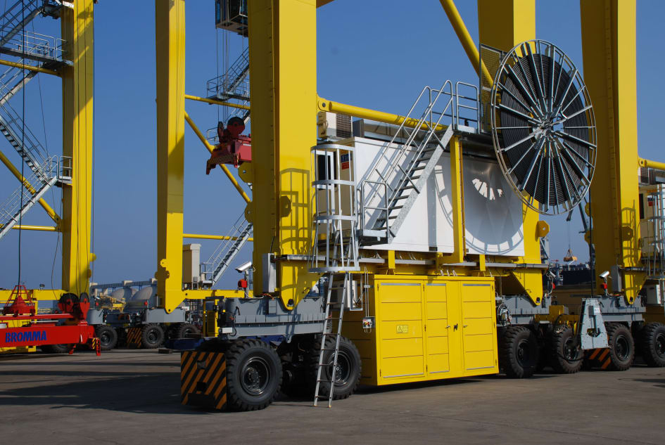 News of our project to electrify RTG cranes at Jebel Ali