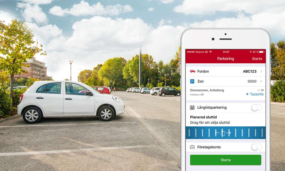 Betala parkeringen med mobilen alltmer populart