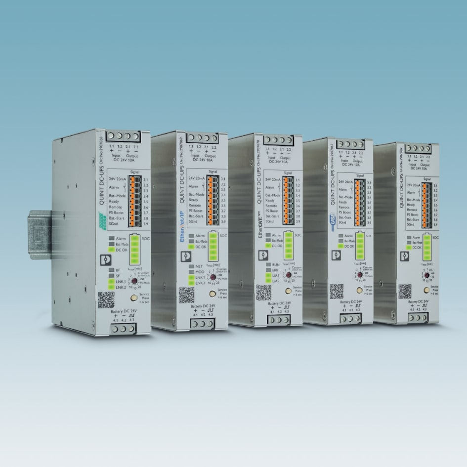 Quint DC UPS for industrial networks - Phoenix Contact UK